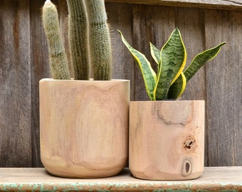 Modern Natural Timber Indoor Plant Tub Pot Planter