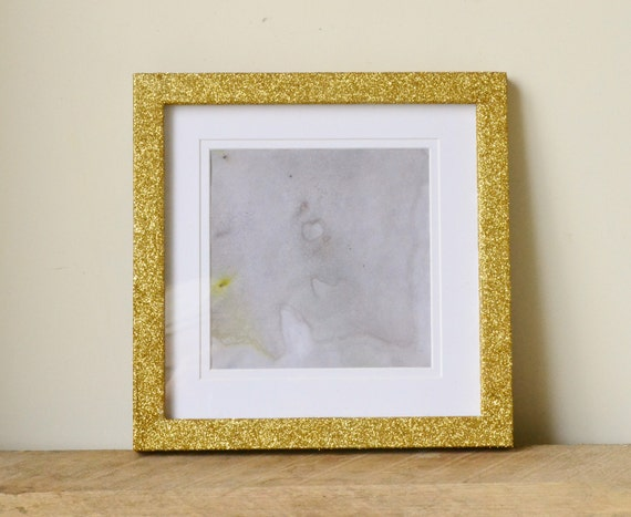 Gold Glitter Sparkle Photo Frame with Removable Border | Etsy