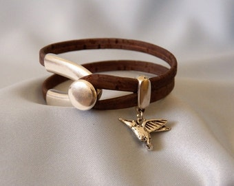 Hummingbird Cork Bracelet