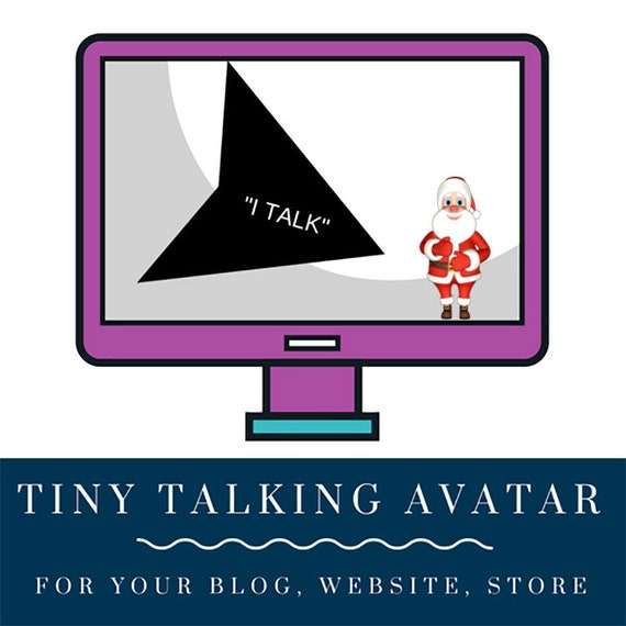 3D Tiny Talking Avatar Video Santa Claus for your WEBSITE, BLOG, STORE