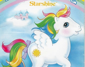 80s Butterick 3212 My Little Pony Starshine Stuffed Animal Sewing Pattern UNCUT