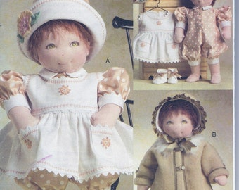 """Vogue Doll Collection 8277 15"""" Baby Doll Clothes Sewing Pattern UNCUT"""
