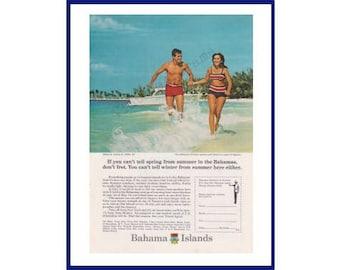 1950-59 1954 Nassau Bahamas Travel Tourism Vtg Print Ad