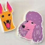 Dog Stickers Greyhound Poodle