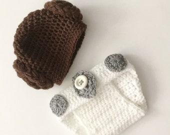 Crochet Pattern: Princess Leia Newborn Photo Prop Pattern