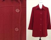 Vintage Red Wool Coat
