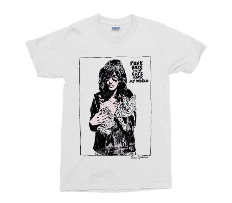 031d1d567 Joey Ramone and Cat Punk T-Shirt | Etsy