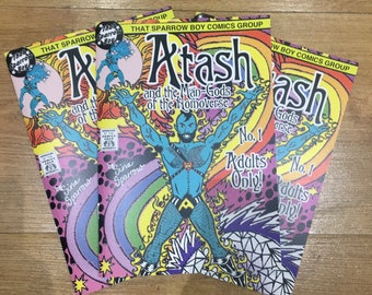 ATASH & the Man-Gods of the Homoverse mini-comic for adults only no. 1