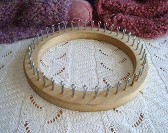41   Peg Knitting Loom - XL Gauge  13/16 - Adult Hat Size - compares to yellow knifty kntter type loom  - Cottage Looms