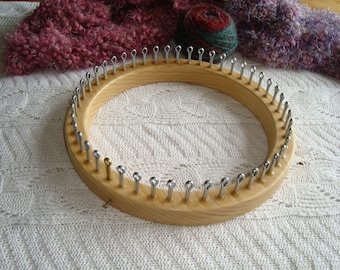 """48 Peg Large Gauge (5/8"""") Hat Knitting Loom  - Adult Hat Size - compares to purple knifty knitter - loom knitting - Cottage Looms"""