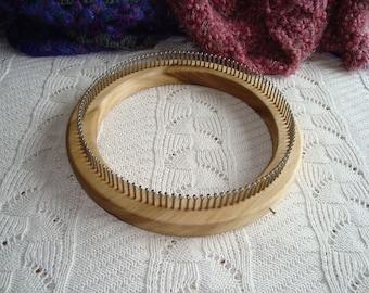 Fine Gauge Hat Knitting Loom - Adult Hat Size - 120  Pegs - Wood - loom knitting - Cottage Looms