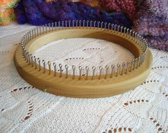 "80 Peg Small Gauge (3/8"" C2C) Hat Knitting Loom - Adult Hat Size - loom knitting - Cottage Looms"
