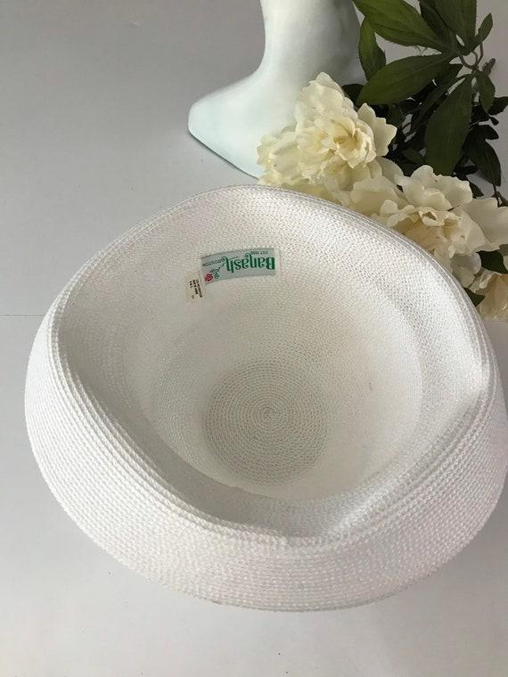 Cottagecore White Curved Breton Straw Hat Summer … - image 6