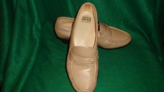 SAS Tripad Comfort Beige Leather Heel