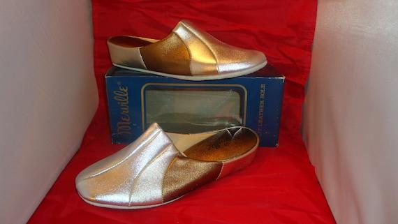 Vintage Merville Multi-Metallic  Slippers/House Sh