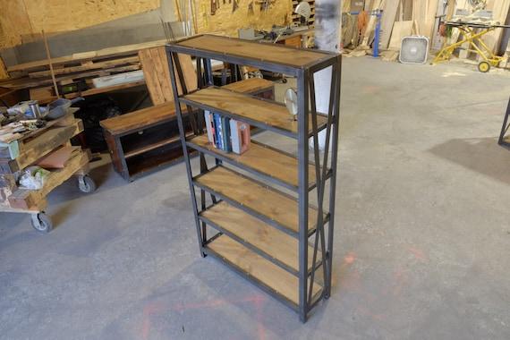 Industriële Hout En Staalboeken Kastboekenplank Boek Display