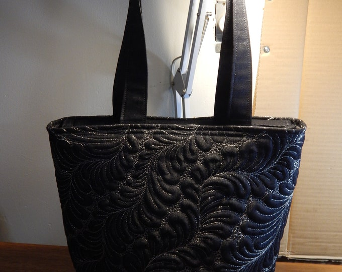 Featured listing image: Black Denim Quilted Tote