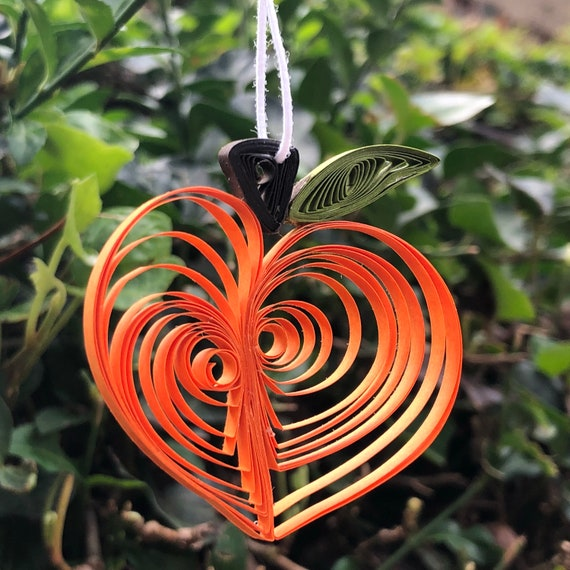 Quilled Peach Ornament or Decoration Fruit Georgia