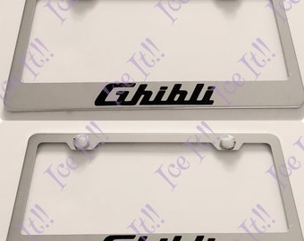 2X Audi With Logos Stainless Steel License Plate Frame Rust Free W// Caps
