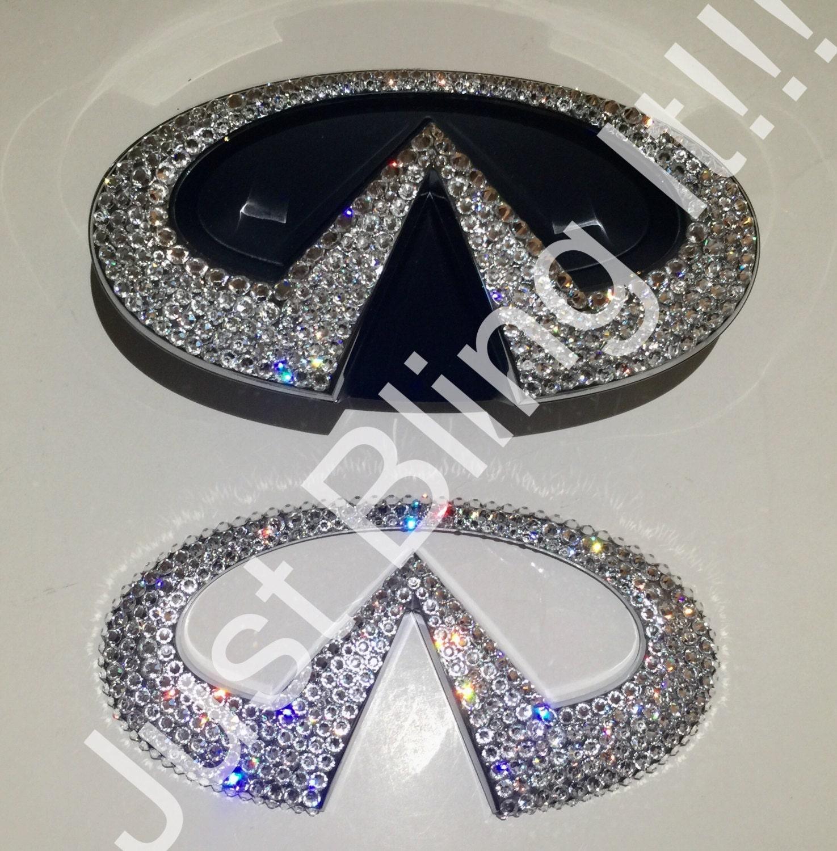 Swarovski Crystal Bling Infiniti vorderen und hinteren emblem