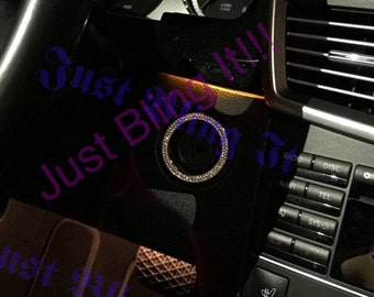 Mercedes Benz Swarovski Crystal bling Ignition Ring
