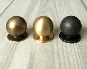 Mini Knob Tiny Brass Knobs Small Cabinet Door Knobs Dresser Pull Drawer  Pulls Antique Bronze Black Retro Lynns Hardware Polished Brushed
