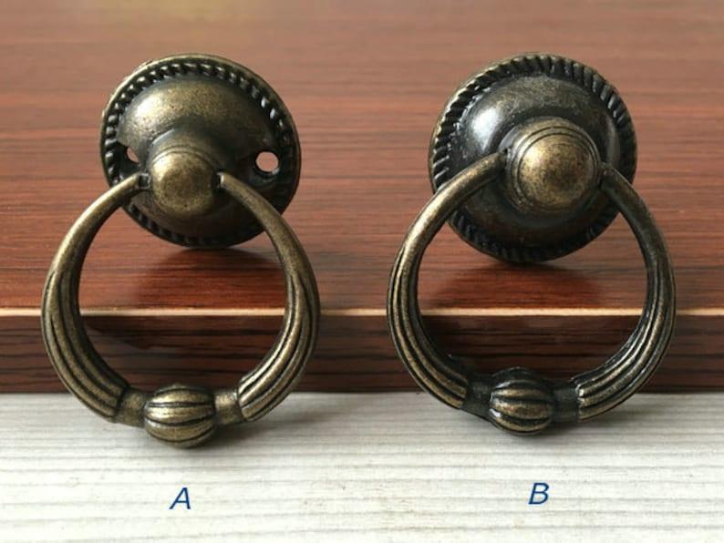 093d71e4ff Vintage Look Dresser Drawer Pulls Handles Knobs Ring Drop Pull Antique  Bronze Rustic Cabinet Door Knob Pull Furniture Hardware LynnsHardware