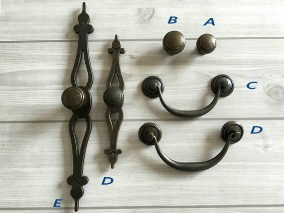 Vintage Style Kitchen Cabinet Door Handles Antique Bronze Dresser Drawer Knobs