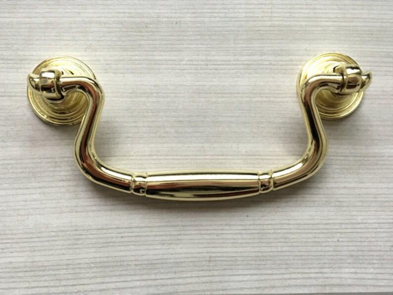 2.5 3.75 Gold Drawer Pulls Drop Bail Drawer Pull Handles Knob Dresser Pulls Ring Cabinet Knobs Door Handle Lynns Hardware 2 12 64 96 mm