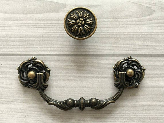 image 0 - 4.25 4.5 Rustic Kitchen Cabinet Knobs Door Pull Etsy