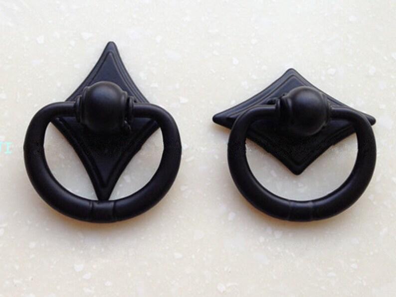 Schwarz Knauf Griffe für Möbel Antik Stil Beschlag Knopf Küche | Etsy