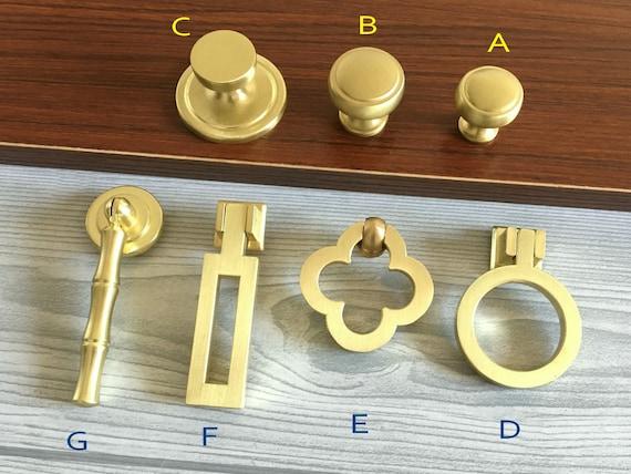 Brass Bamboo Drop Knob Drawer Knob Dresser Pull Cabinet Knob Door Pull Bronze