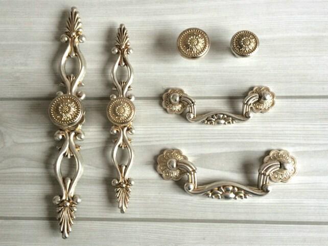 76 96 128 160 Silber Antike Küchengriffe Küche Schrank Griffe | Etsy