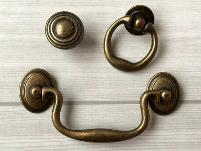 100 mm Antike Bronze Schubladen Griff Schrank Griffe Türgriff   Etsy