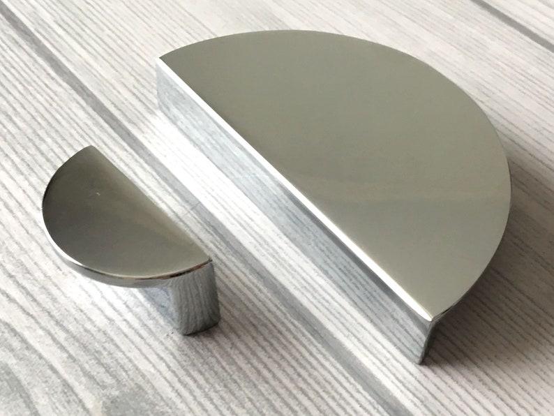 1 14 2 12 C C Polished Chrome Cabinet Pull Handle Half Circle