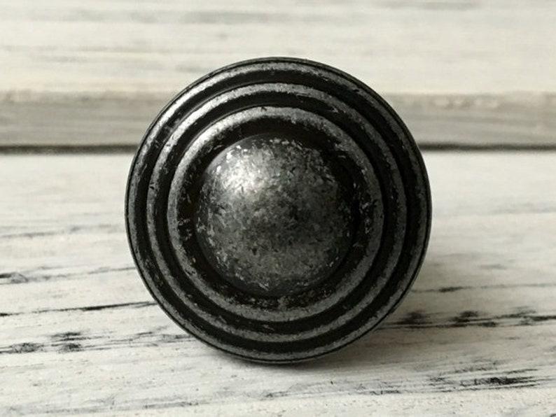 3.75 5 Drawer Knobs Pull Handles Dresser Knob Pulls Handle Antique Black Silver Pewter Rustic Kitchen Cabinet Door Handle Pull 96 128 mm