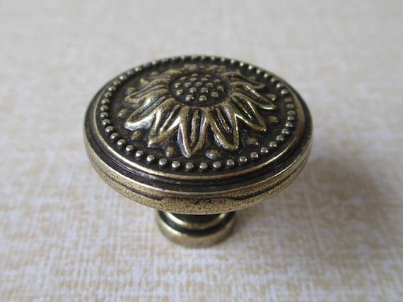 image 0 - Dresser Knobs Drawer Knobs Pulls Handle Sunflower Antique Etsy