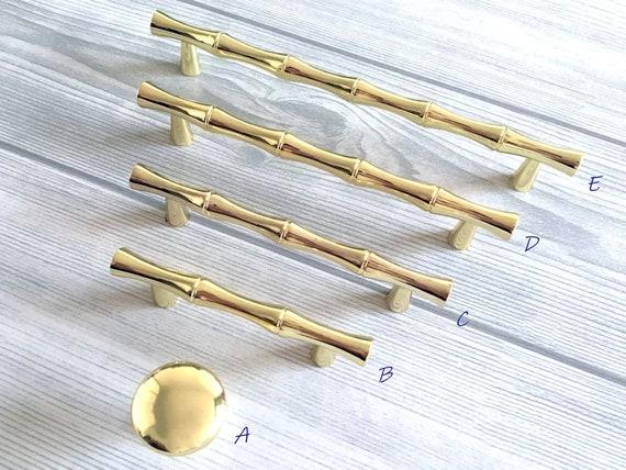 2 5 3 75 6 25 Gold Bamboo, Bamboo Cabinet Hardware