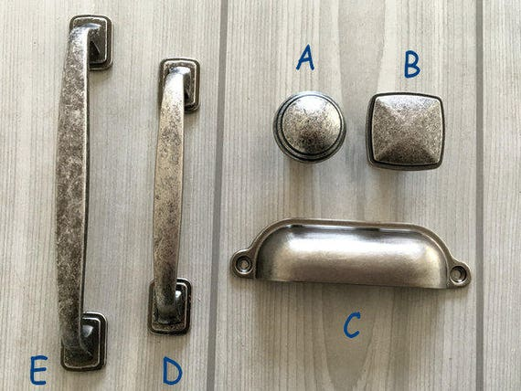 """Vintage Style Entry Door Pull Handle 12/"""" Long Pewter Gold Bronze Silver"""
