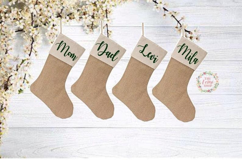 Personalized Christmas Stockings Christmas Stockings Personalized Family Stockings Family Stockings Burlap Stockings Burlap Stocking