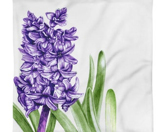 Purple Hyacinth Square Pillow Case only