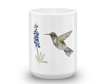 Hummingbird and Bluebonnet Mug