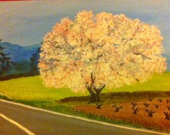 The Almond Tree in Blossom.