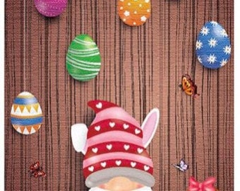 colorful fast shipping Easter gnome US Seller 30x40cm free shipping full drill round drill diamond painting kit