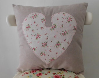 Pink heart pillow | Etsy