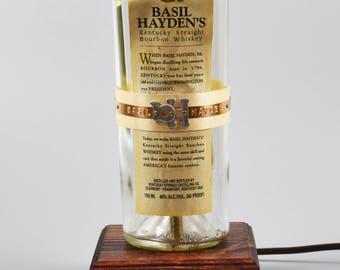 Basil Hayden Bourbon Bottle Lamp/handmade/man cave/light/bourbon lamp/bottle light/liquor/bar/gifts for men/whiskey/whiskey bottle lamp