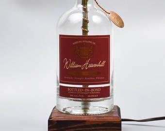 William Heavenhill Bourbon Bottle lamp/handmade/man cave/bourbon lamp/bottle light/liquor/bar/gifts for men/whiskey/whiskey bottle lamp