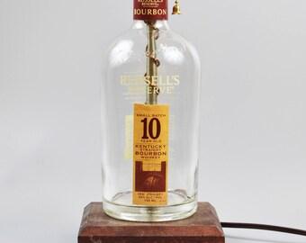 Russell's Reserve 10 year Bourbon Bottle Lamp/handmade/man cave/light/bourbon lamp/bottle light/liquor/bar/gifts for men/whiskey bottle lamp