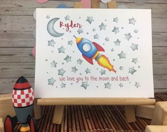 Rocket Baby Shower Etsy