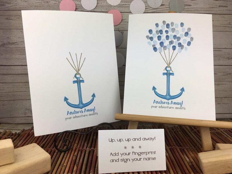 nautical themed fingerprint guestbook retirement party ideas anchor themed baby shower graduation party ideas Graduation keepae